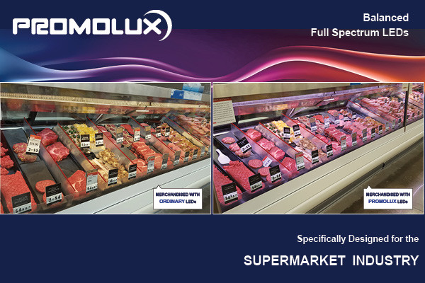 How LED lighting impacts food merchandising in supermarkets